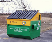 Paper Recycling Dumpster